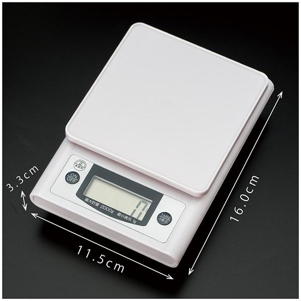 デジタルキッチンスケール 2kg image02