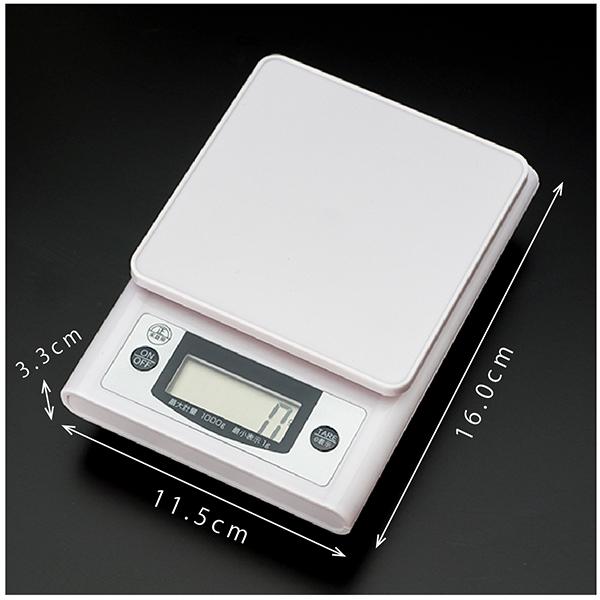デジタルキッチンスケール 1kg image02