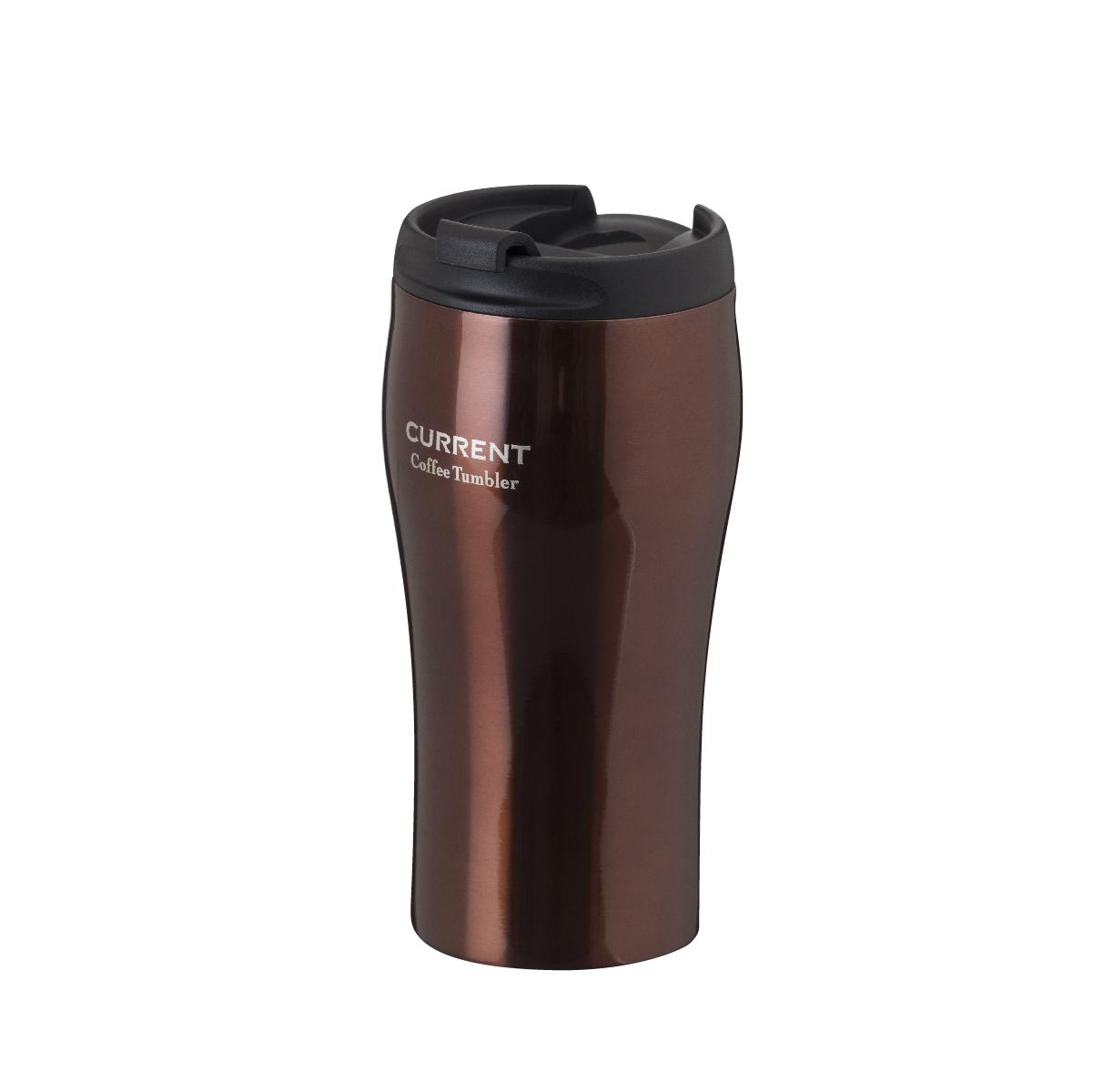 CURRENT フタ付きコーヒータンブラー 350ml  ブラウン