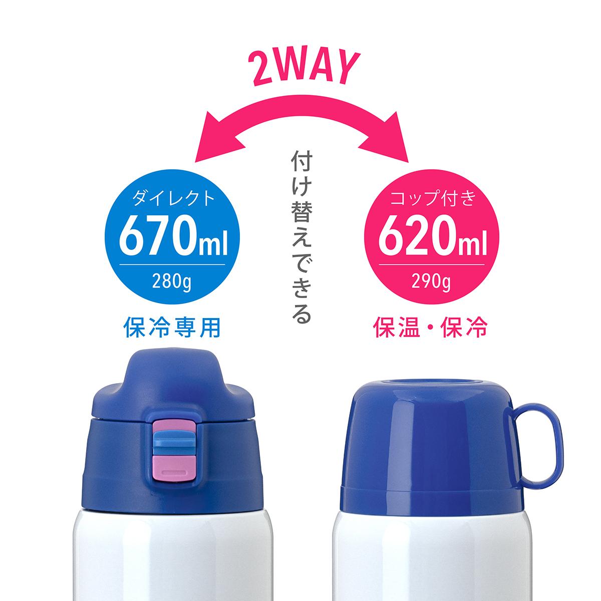 Aquage 2Wayボトル 600ml ブルー image02