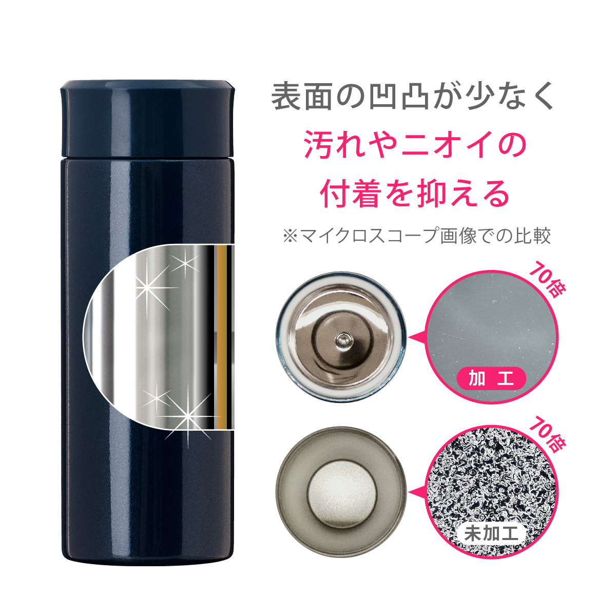 Airlist 超軽量スリムボトル 400ml ピンク image03 thumbnail