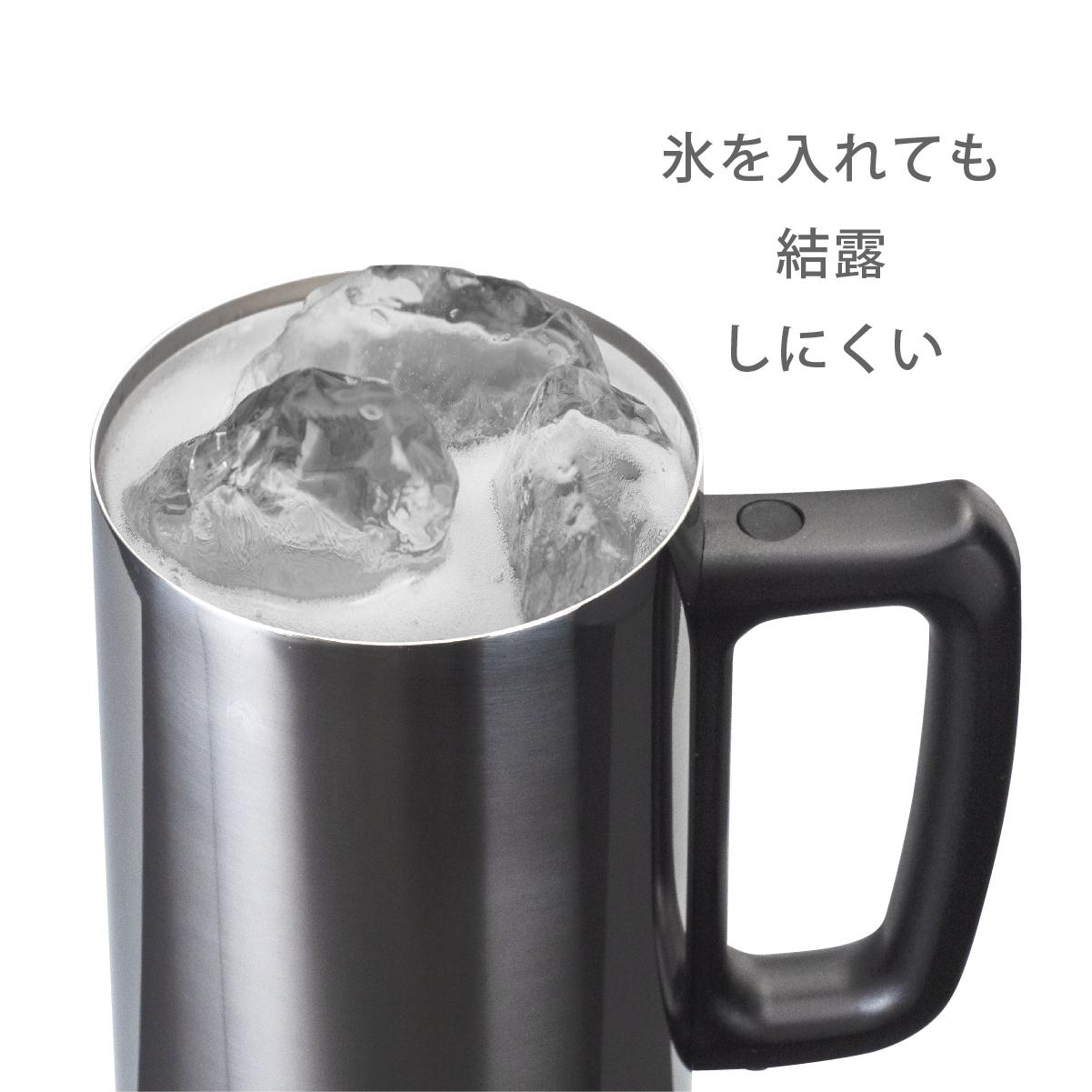 氷を入れても結露しにくい