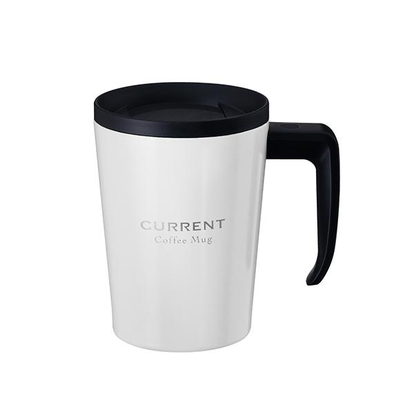 CURRENT コーヒーマグカップ 330ml ホワイト