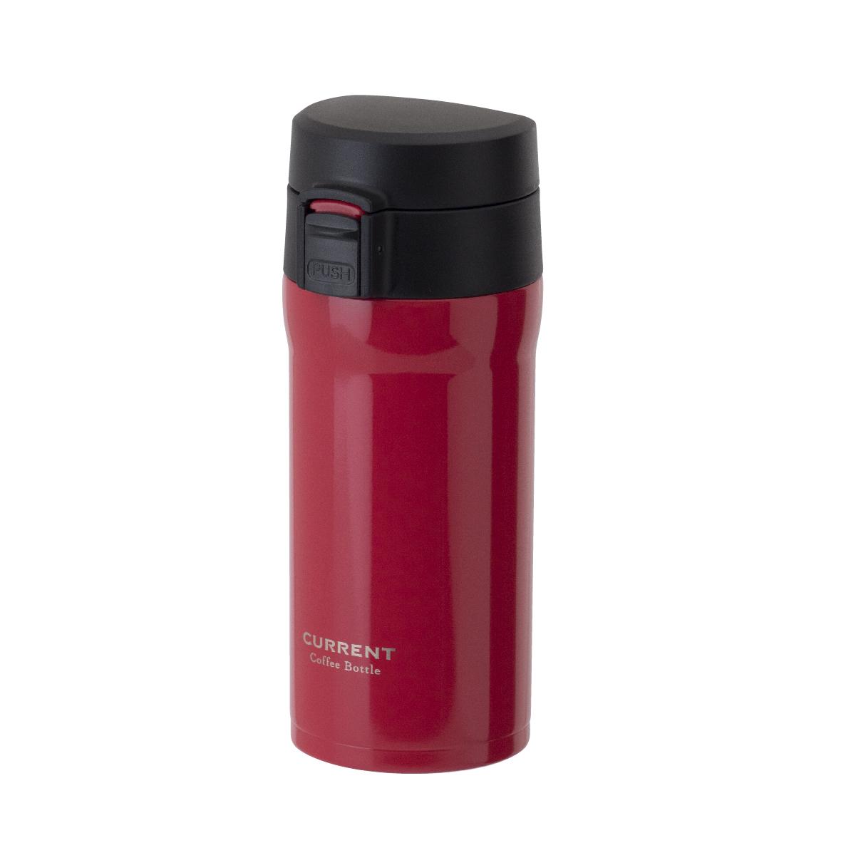 CURRENT コーヒーワンタッチボトル 350ml レッド