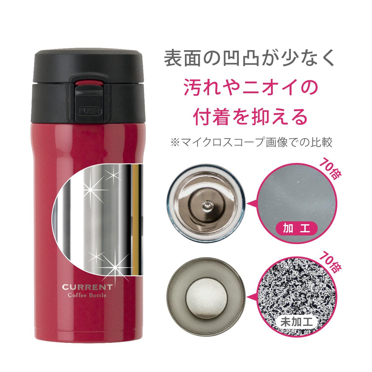 CURRENT コーヒーワンタッチボトル 350ml レッド image03
