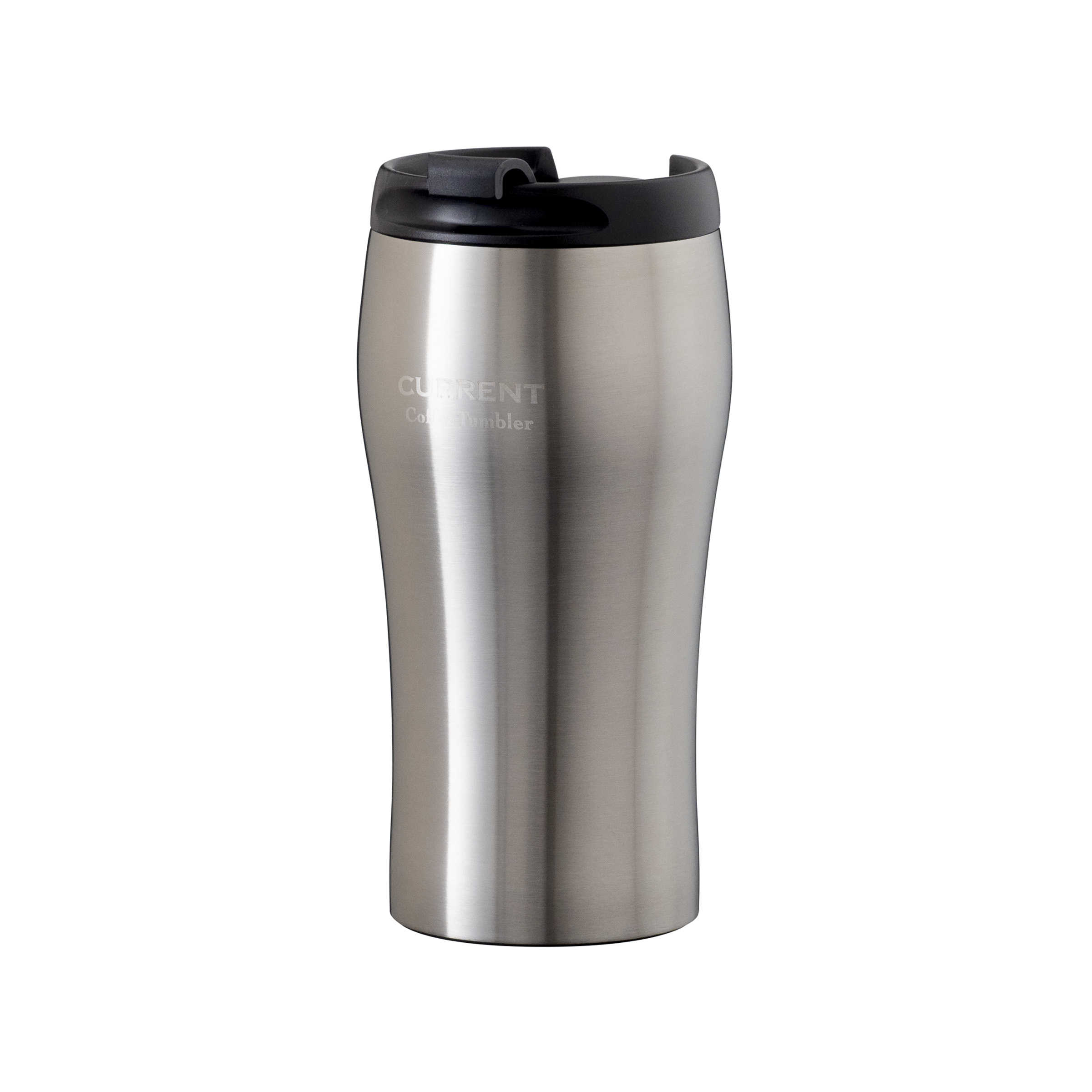 CURRENT フタ付きコーヒータンブラー 350ml  シルバー